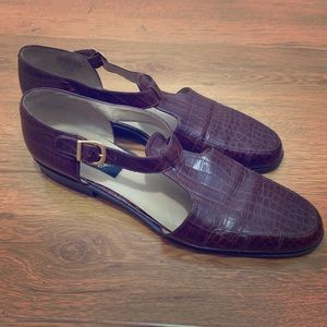 Cutout Leather Loafers